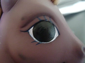 Partially Painted Eye image