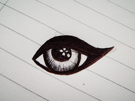 Sketch Of Doll Eye image